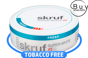 Skruf Super White Slim Fresh No.3
