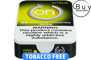 on! Citrus 4 Nicotine Pouches