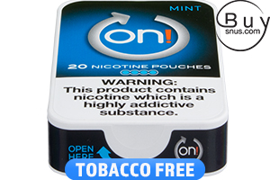 on! Mint 4 Nicotine Pouches