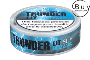 Thunder LIT Blizzard Slim White Dry Chewing Bags