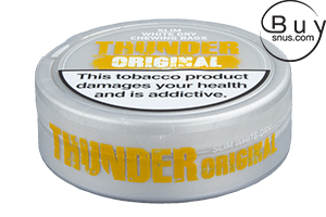 Thunder Original Slim White Dry Chewing Bags