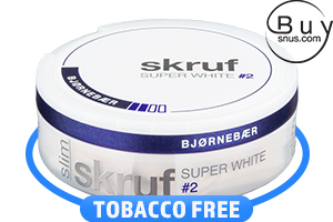 Skruf Super White Slim Björnbär No.2
