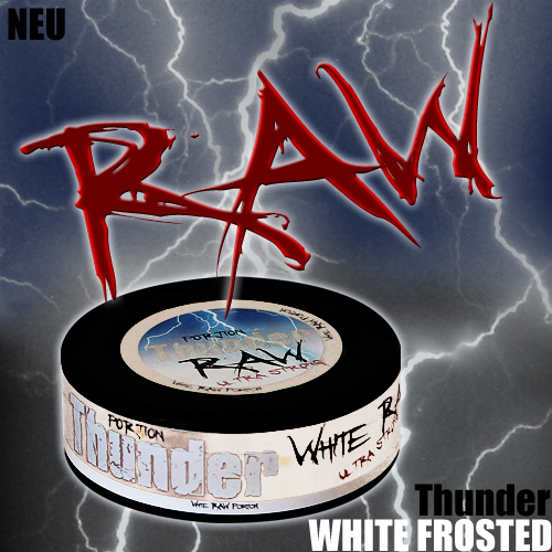 NEW: Thunder WHITE RAW Frosted Portion