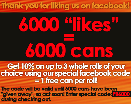 6000 Likes - 6000 Cans!