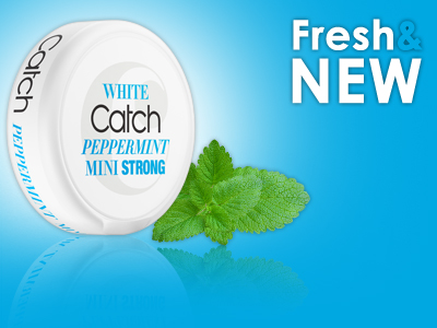 NEW: Catch White Peppermint Strong Mini!!