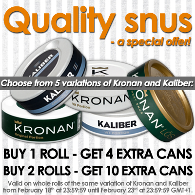 Quality Snus - a special offer!