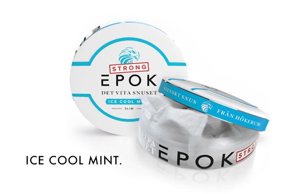 054442721365 Epok Strong Ice Cool Mint Slim White - snus News - BuySnus.com