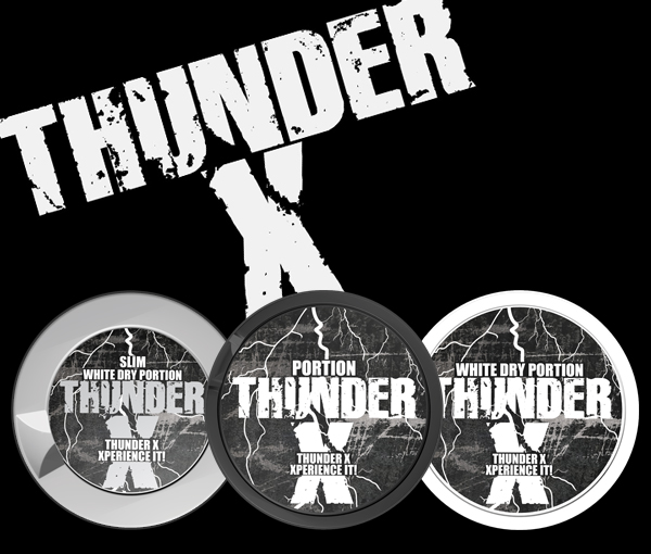Thunder X, three new extremely strong snus!