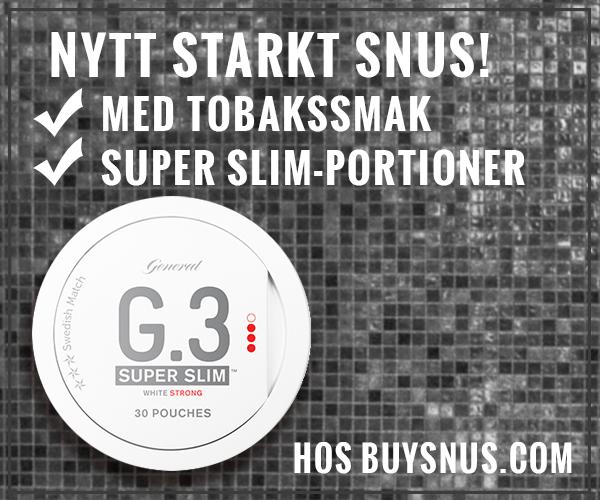 Nytt SUPER SLIM snus från Swedish Match!