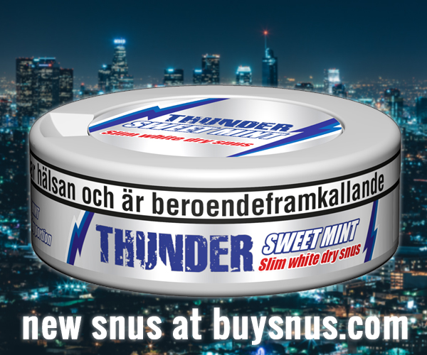 New snus from V2 Tobacco - Thunder Sweet Mint Slim White Dry!