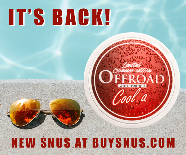 New summer snus from Offroad - cola flavored...!