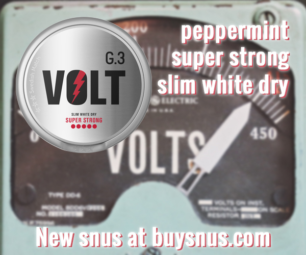 New super strong Snus from General G.3 - VOLT!