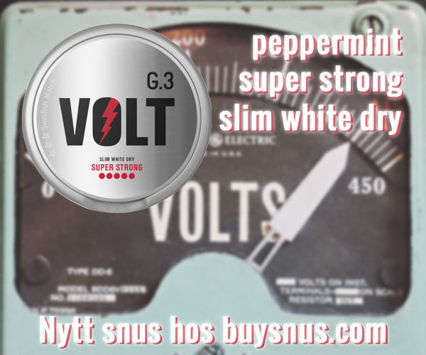 Nytt superstarkt General G.3 Snus - VOLT!