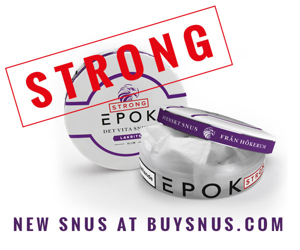 Two new strong snus from EPOK - Lime and Licorice!