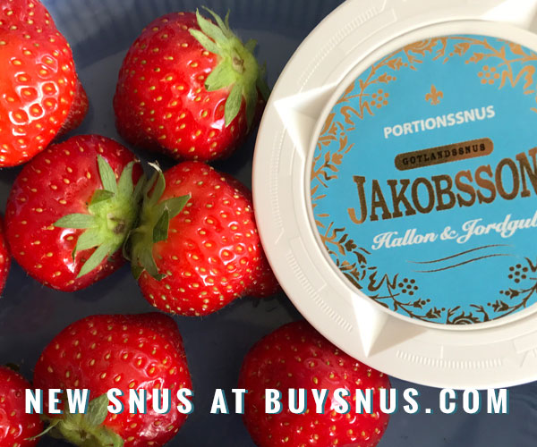 New Snus - Jakobsson's Hallon & Jordgubb - summer snus in original portions!