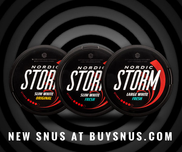 New snus at buysnus.com - Nordic Storm, extra strong snus in white portions!