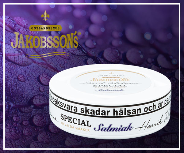 New snus at buysnus.com - Henrik Jakobsson's Special Salmiak - limited edition