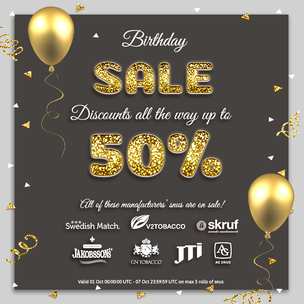 14 Years BuySnus - BIRTHDAY SALE!