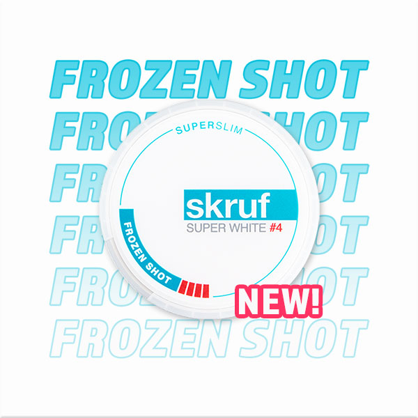 Skruf Super White Super Slim Frozen Shot