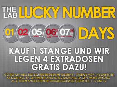 The Lab Lucky Number Days!